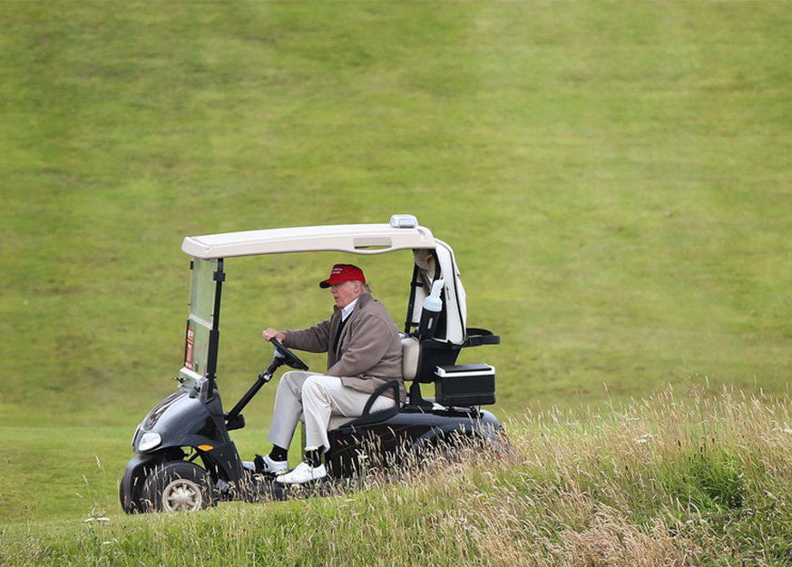 A New Scandal by Donald Trump: Breaking Golf's Golden Rule